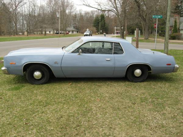 For sale 1977 plymouth fury 2 door manual for c for Plymouth garage doors