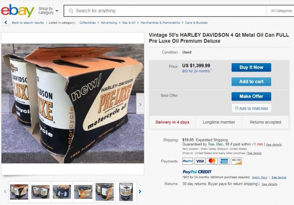 12-04-19.Vintage 50s HD 4 Qt Metal Oil Can FULL Pre Luxe Oil.www.ebay.com.jpg