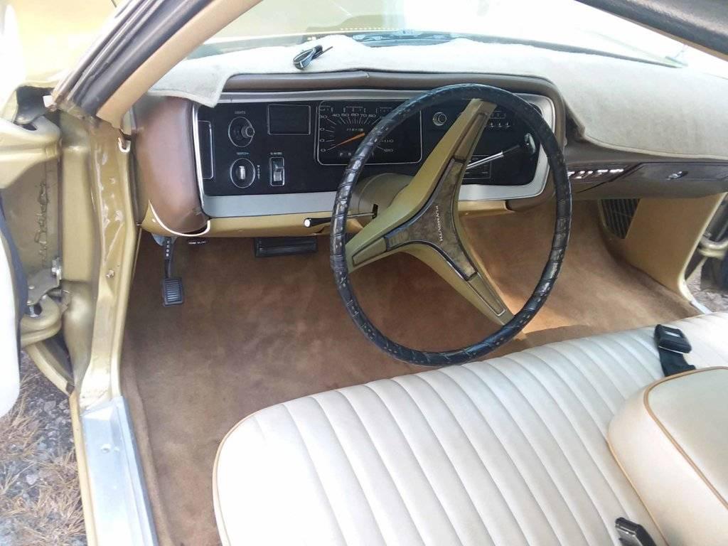 NOS MoPar 1972 1973 Fury Polara Monaco Under Steering Column Dash Cover GOLD