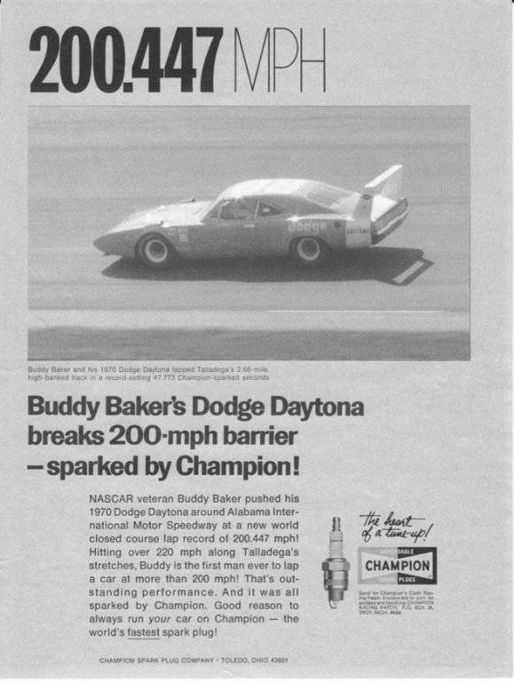 buddy baker 200 mph 1969 dodge charger daytona chrysler engineering #88 200.447.jpg