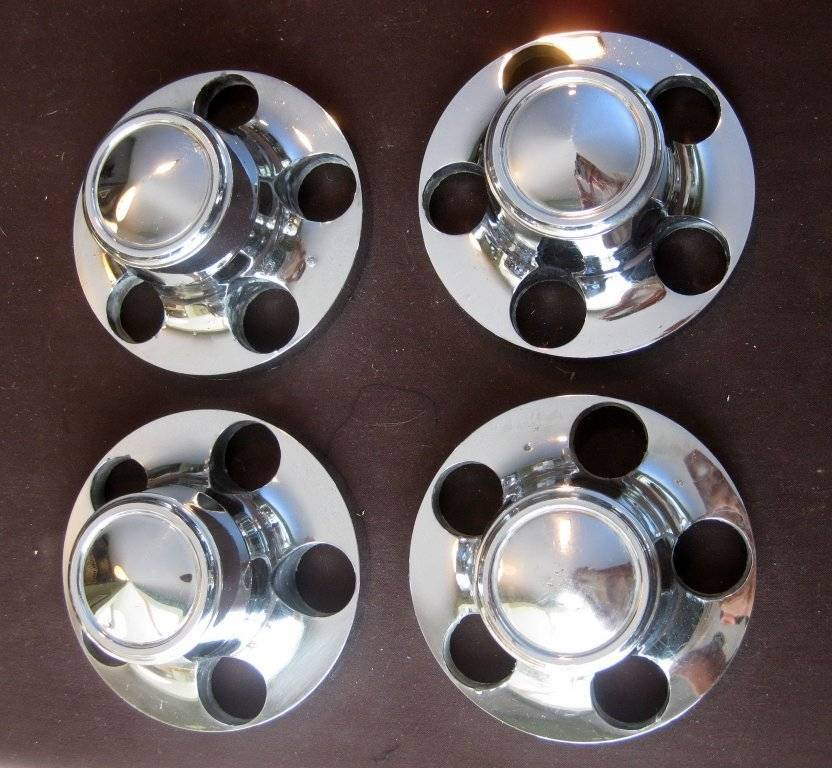 For Sale Set Of Four Late Road Wheel Center Caps