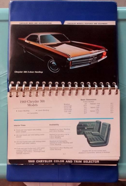 For Sale - 69 Chrysler/Imperial dealer book | For C Bodies
