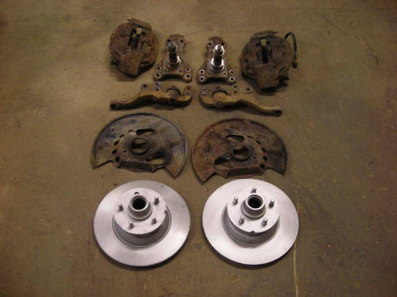 For Sale - 66 67 68 Mopar C Body Budd Disc Brakes Spindles