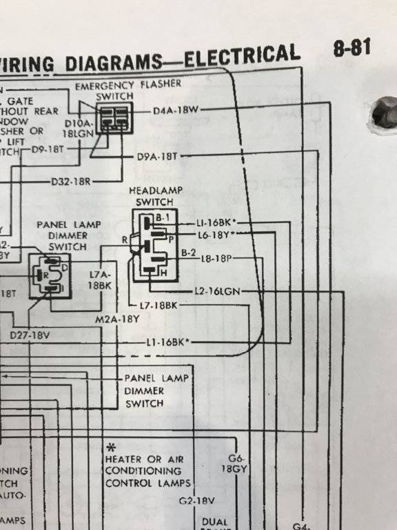 mopar headlight switch wiring diagram wiring woes for c bodies only classic mopar forum  for c bodies only classic mopar forum