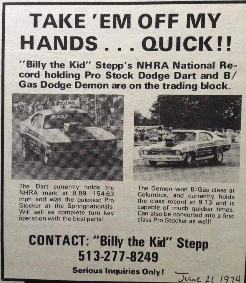 more vintage pro stock