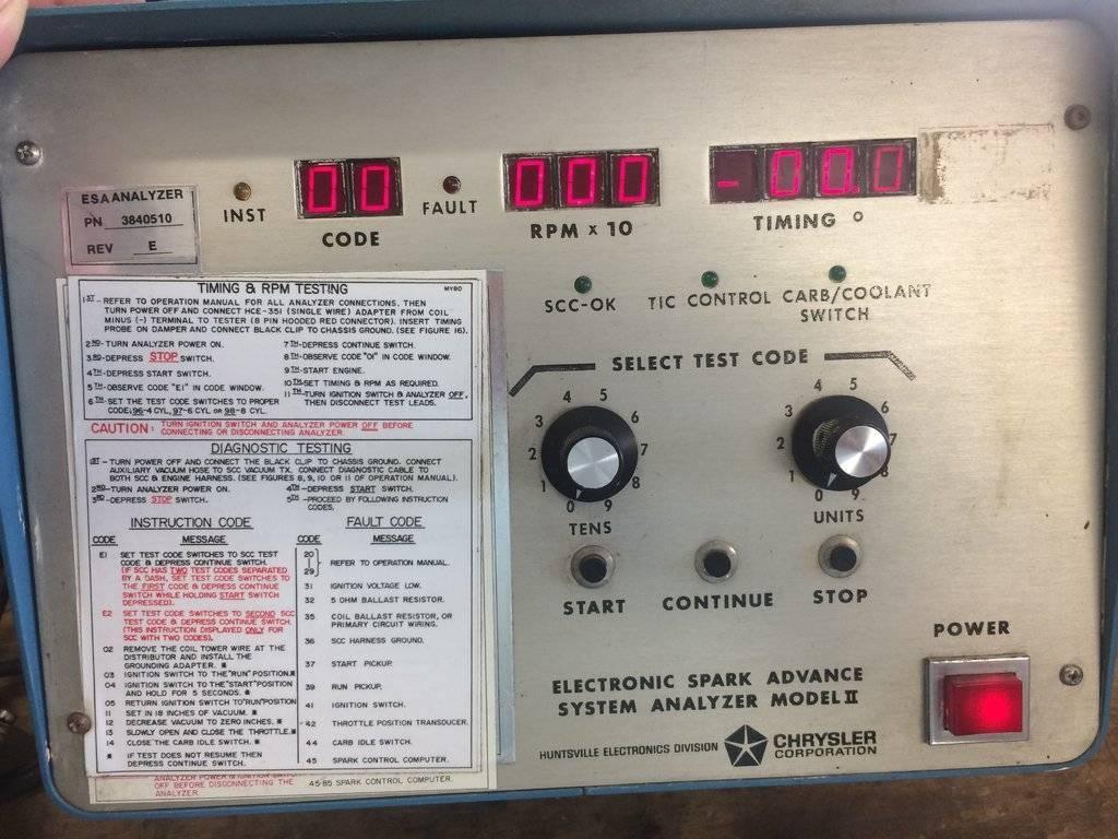 Electronic Spark Advance System Analyzer Model 2 | For C