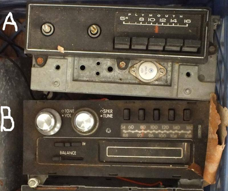 Can someone help identify these radios?   For C Bodies Only