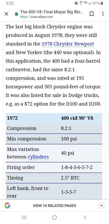 1972 400CI motor | For C Bodies Only Classic Mopar Forum
